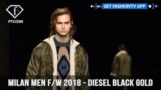 Diesel Black Gold Milan Men Fashion Week Fall 2018 Tribal Folkloistic Collection | FashionTV | FTV