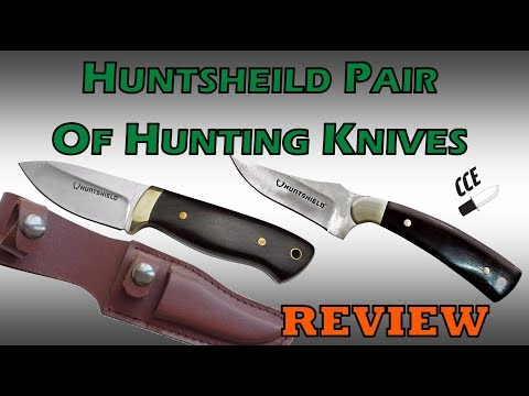 OVERVIEW Of A Pair Of Hunting Knives At Canadian Tire Stores On SALE For Under