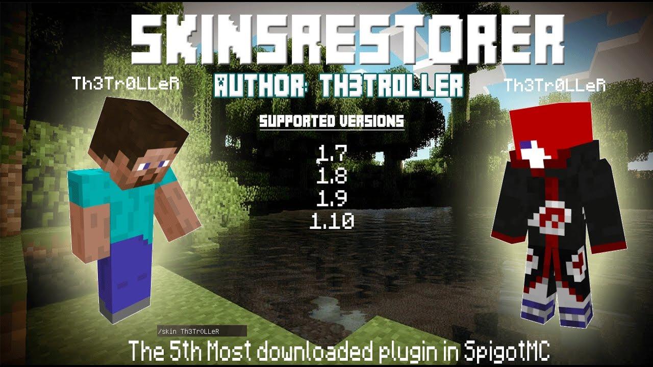 Minecraft Server Plugin SkinsRestorer YouTube - Minecraft sponge server erstellen 1 8
