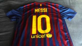 Nike barcelona 2011-2012 lionel messi home jersey review