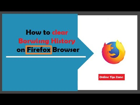 How to clear history in Firefox