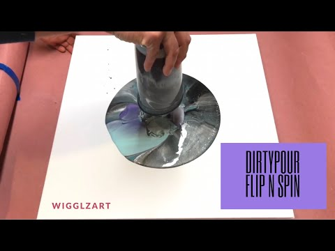 Fluid Painting Dirty Pour Flip and Spin!!! Really neat End Result!! Please Share and Subscribe!!