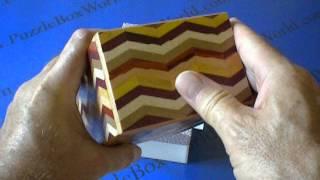5 Sun 7 Step Notch Stripe Yosegi Japanese Puzzle Box