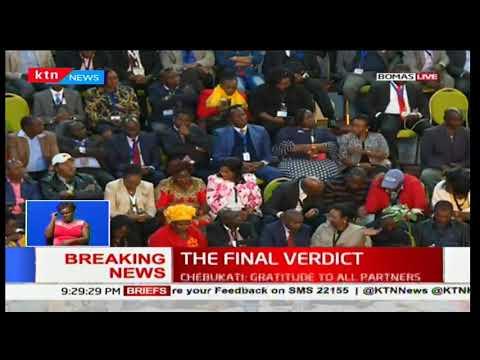IEBC Chairman Wafula Chebukati's full speech on declaration of presidential results