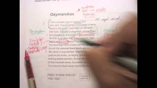 Ozymandias Part II-Annotation and Commentary