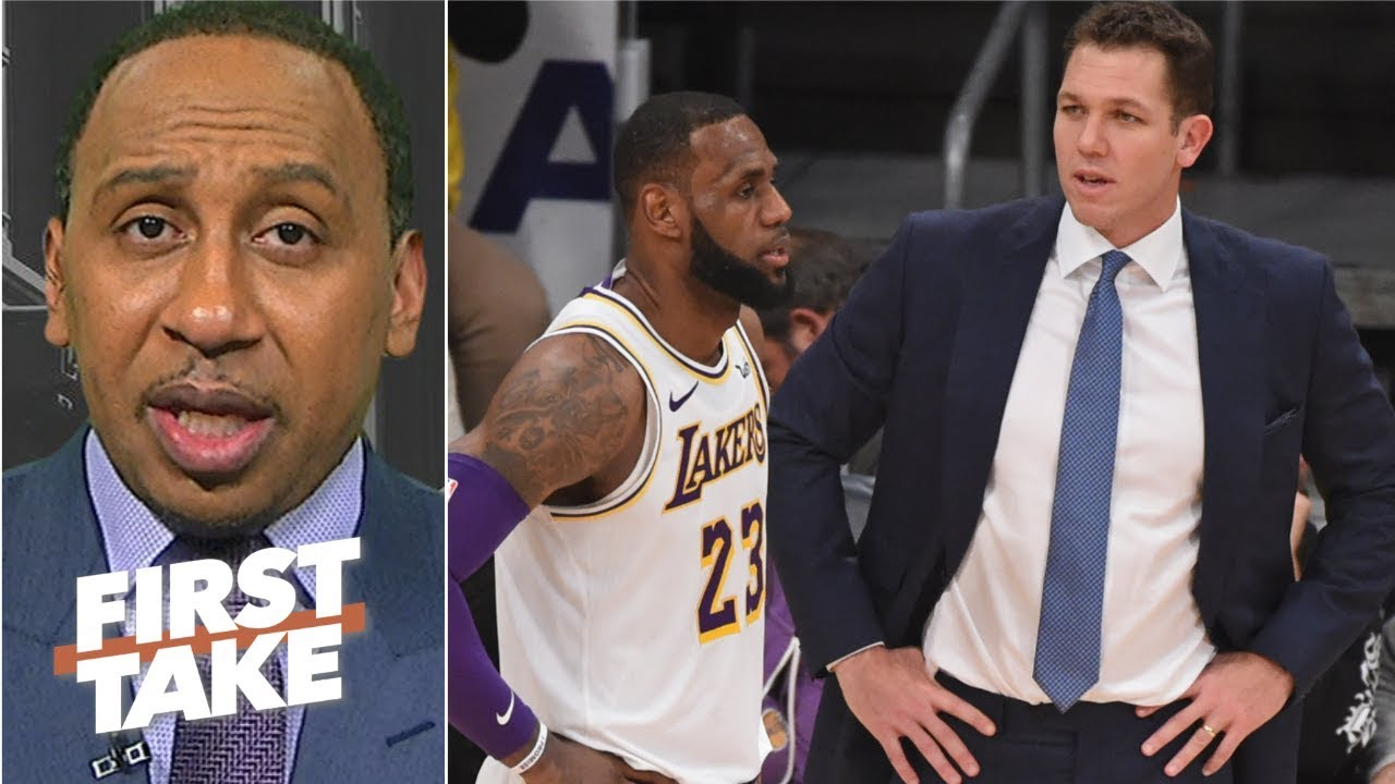 3730d49ee1c LeBron needs a coach he believes in, and it's not Luke Walton – Stephen A.  | First Take. ESPN