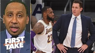 LeBron needs a coach he believes in, and it's not Luke Walton - Stephen A. | First Take