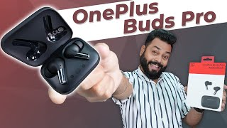 OnePlus Buds Pro TWS Earphones Unboxing & First Impressions ⚡11mm Drivers, Smart ANC,38 Hrs 🔋 & More