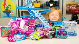 HUGE Surprise Penguin Slide Surprise Eggs Toys for Girls Trolls My Little Pony Kinder Playtime