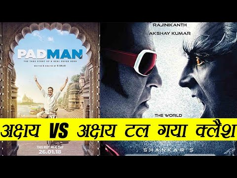 Robot 2.0 Vs Padman Clash: Will Rajinikanth go on Backfoot for Akshay Kumar; Find out here|FilmiBeat