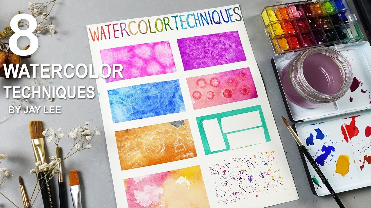 8 basic watercolor techniques for beginners youtube for Different watercolor techniques