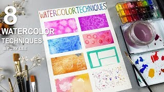 8 Basic Watercolor Techniques for Beginners