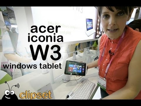 Acer Iconia W3 Windows 8 tablet preview Computex