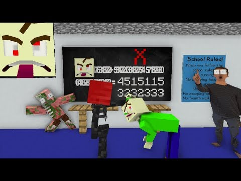 Monster School : BALDI'S GAME ERROR CHALLENGE (hack) - Minecraft Animation