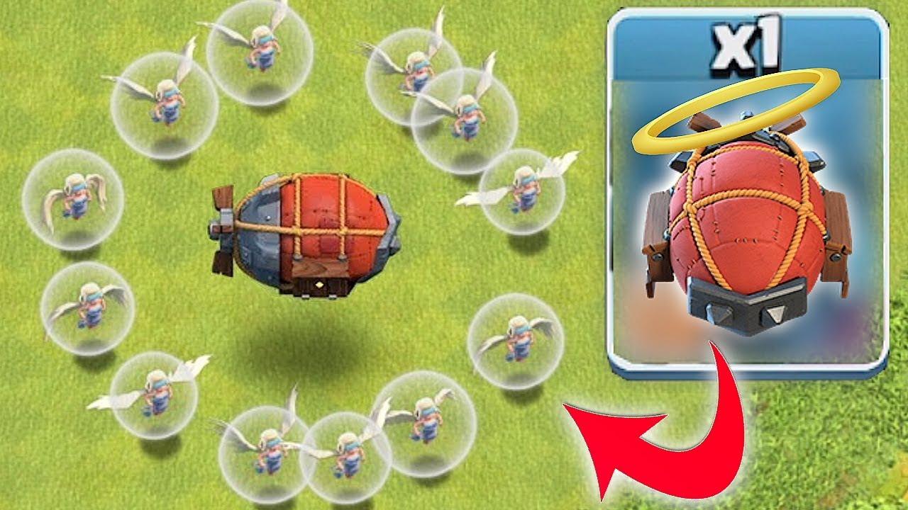 "HOLY BLIMP SIEGE TROLL ""Clash Of Clans"" JUST GO WITH IT...."