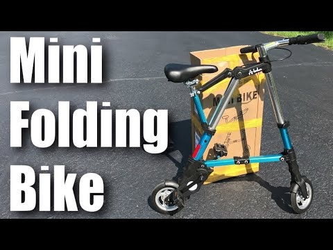 "8/"" Folding Bike Mini Aluminum Alloy Travel Lightweight Portable Foldable Bicycle"