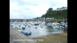 SAUNDERSFOOT and COPPET HALL BEACH  PEMBROKESHIRE  WALES