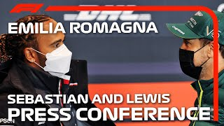 Lewis Hamilton And Sebastian Vettel: Driver Press Conference | Emilia Romagna Grand Prix