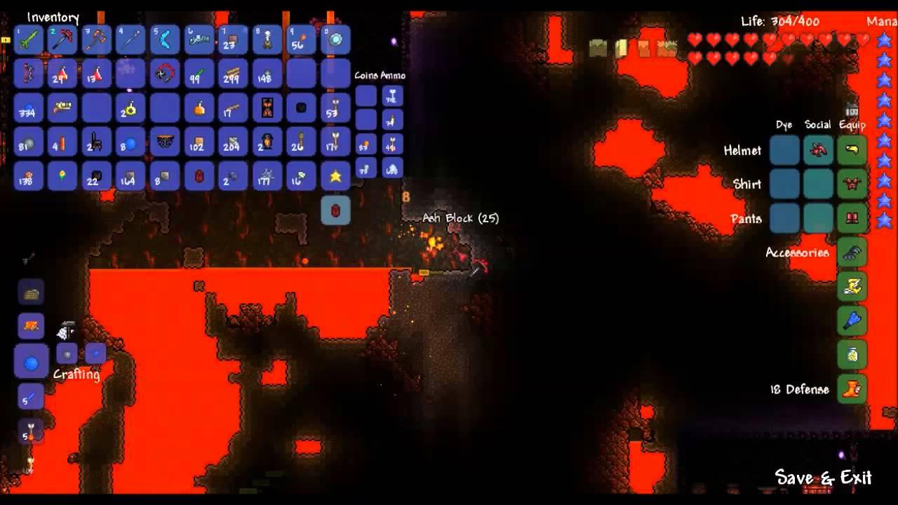 Terraria 1 2 (blind) part 36: Mining Hellstone - DMMegsie