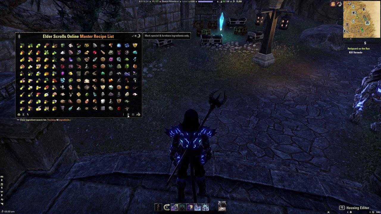 ESO Master Recipe List : TradeSkill Mods : Elder Scrolls