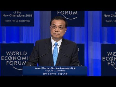 Premier Li addresses opening ceremony of 2018 Summer Davos