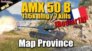 WOT: AMX 50 B, Map Province perfect farming positioning, WORLD OF TANKS