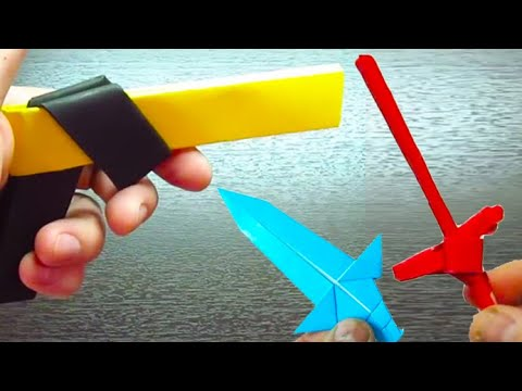 5 COOL ORIGAMI WEAPONS IDEAS FOR BEGINNERS ORIGAMI FACIL - YouTube