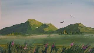 Как нарисовать горы гуашью [Картина за 3 минуты!](Видеурок рисования гор гуашью. Материалы, которые нужны для рисования этой картины: - гуашь, - кисти, - акваре..., 2015-01-26T13:26:27.000Z)