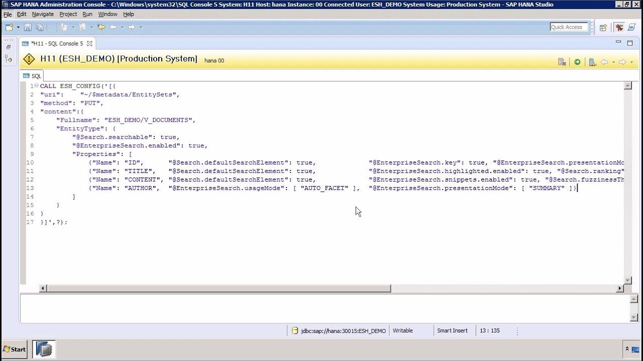 SAP HANA Academy - Text Search: ESH_SEARCH - Using ESH_CONFIG