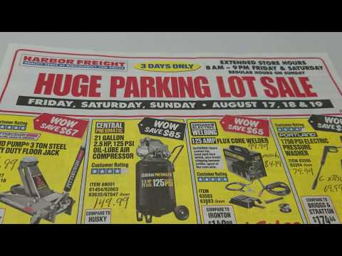 Breaking Down The Harbor Freight Parking Lot Sale Ad For August!