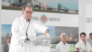 Palabras de Felipe Vicini en la inauguración de San Pedro Bio Energy