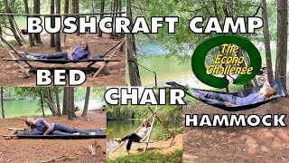 Amazing Camp Bed - Bushcraft 4 in 1 Camping Hammock / Bed / Chair / Cot