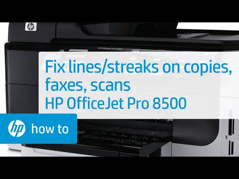 Resolve Lines or Streaks on Copies, Sent Faxes, or Scans - HP OfficeJet Pro 8500   HP