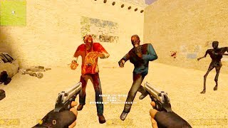 Counter Strike Source - Zombie Horde Mod Online Gameplay on zn_moon_roundabout_v1 map