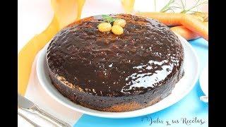 Cómo hacer bizcocho de zanahoria | Con ALMÍBAR DE CHOCOLATE!!