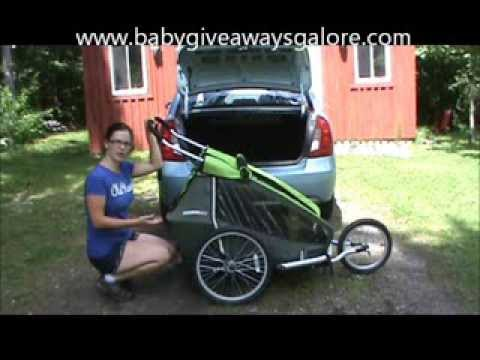 How-to fit a Croozer Kid for 2 in small trunk - YouTube