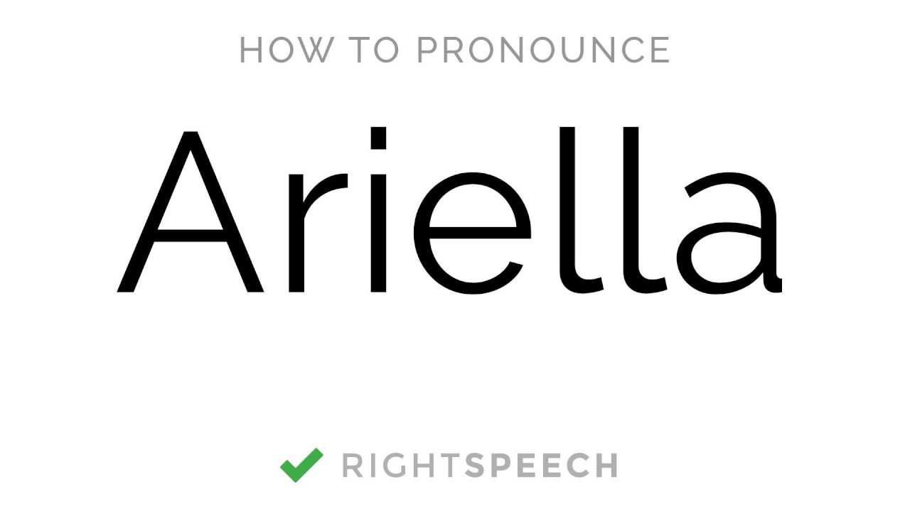 Download 🔴 Ariella - How to pronounce Ariella - American Girl Name