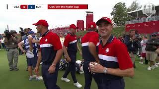 Team USA Winner Celebrations 2021 Ryder Cup Whistling Straits
