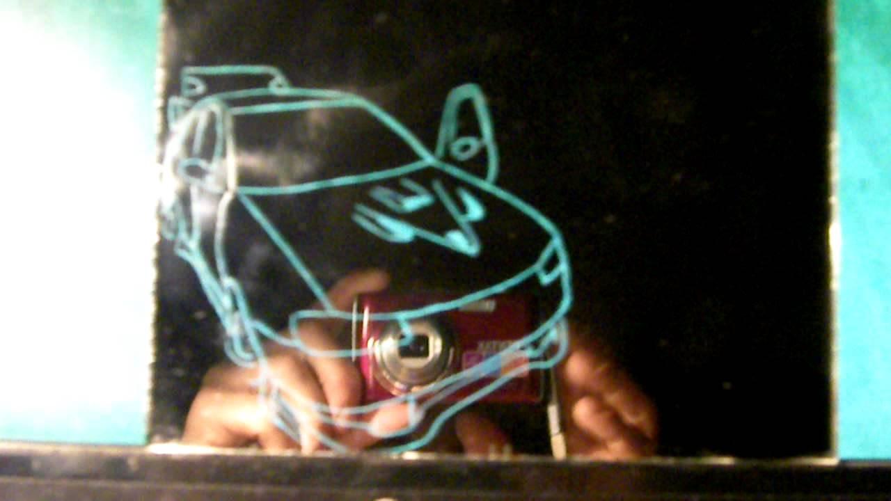 Test gravure dos miroir et lumiere youtube for Gravure sur miroir