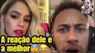 Olha a reação do Neymar ao ver Bruna Marquezine loira.