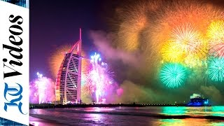 Burj Al Arab New Year Fireworks Light Up Dubai
