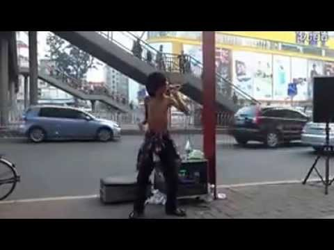 Crippled Street Performer Singing   Amazing Voice