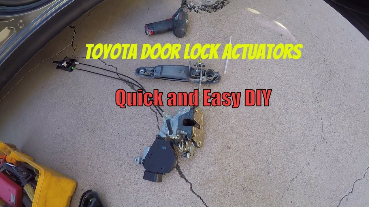 Lexus Is300 Door Lock Actuator Diy Fixing Door Locks That Do Not Work Car Vlog Installation Youtube