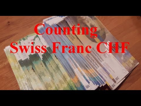 Counting Swiss Franc Banknotes CHF