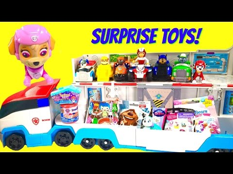 Paw Patrol Giant Toy Surprise Show! Paw Patroller Delivers Skye, Blind Bags and Mashems!