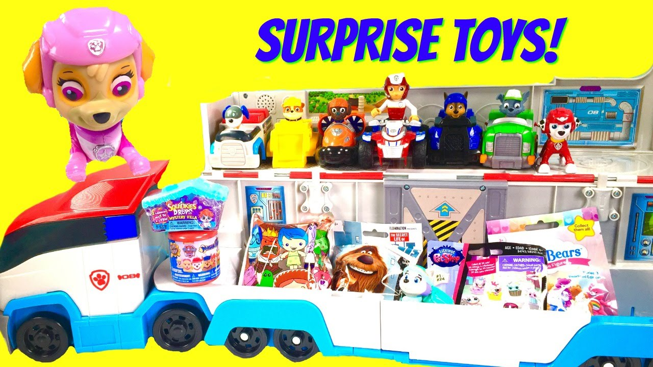 Paw Patrol Giant Toy Surprise Show! Paw Patroller Delivers Skye, and  Mashems!