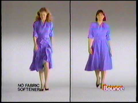 Bounce Fabric Softener Static Cling - 1989 Commercial