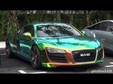 Audi R8 V8 W Epic Chameleon Wrap Quick Look Youtube