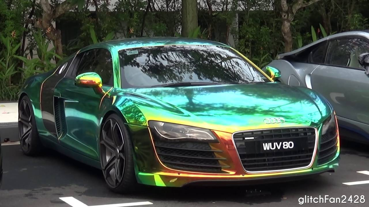Audi R8 V8 W Epic Chameleon Wrap Quick Look Youtube
