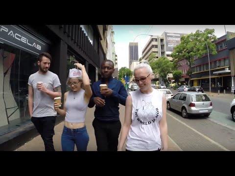 Coffee Run in  downtown Johannesburg